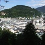 Blick vom Oskar-Kokoschkaweg auf Salzburg