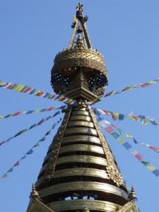 Spitze des Stupa