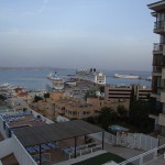 Blick auf den Fährhafen von Palma de Mallorca/©2014 B.Fischer-Stracke